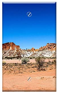 Single-Gang Blank Wall Plate Cover - Rainbow Valley Nt Outback Australia Nt Landscape
