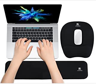 WB WEIRDBEAST Ergonomic Keyboard Wrist Rest Pad and Mouse Pad Hand Support for Laptop Computer Wrist Rest Support Cushion ...