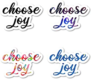 Choose Joy Sticker Pack Inspirational Quotes Stickers - 4 Pack - Laptop Stickers - for Laptop, Phone, Tablet Vinyl Decal Sticker (4 Pack) S211250