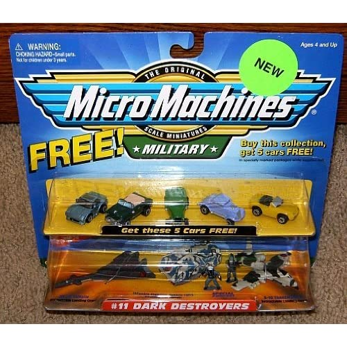 Micro Machines Dark Destroyers #11 w/5 Bonus Cars Military Collection