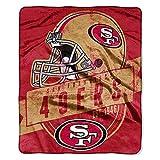 The Northwest Company NFL Licensed Grand Stand Royal Plush Raschel Fleece Throw Blanket (San Fransisco 49ers)