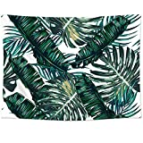 Sunm Boutique Tapestry Wall Hanging Palm Tree Leaves Tapestry Vintage Tapestry Wall Tapestry Micro Fiber Peach Home Decor (Palm Tree Leaves,51.2'x 59.1')