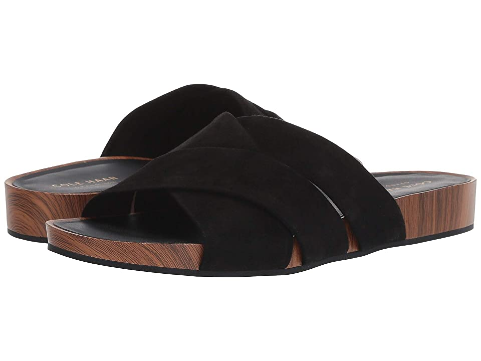 Cole Haan Braelyn Footbed Sandal (Black Suede) Women