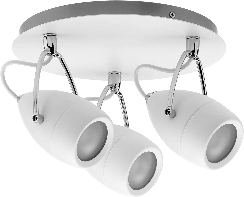 Paulmann 66716 Spotlight Drop IP44 Rondell max 3x10W GU10 Wei Chrom 230V Metall 667.16 Deckenleuchte Lampe LED Deckenlampe Deckenstrahler