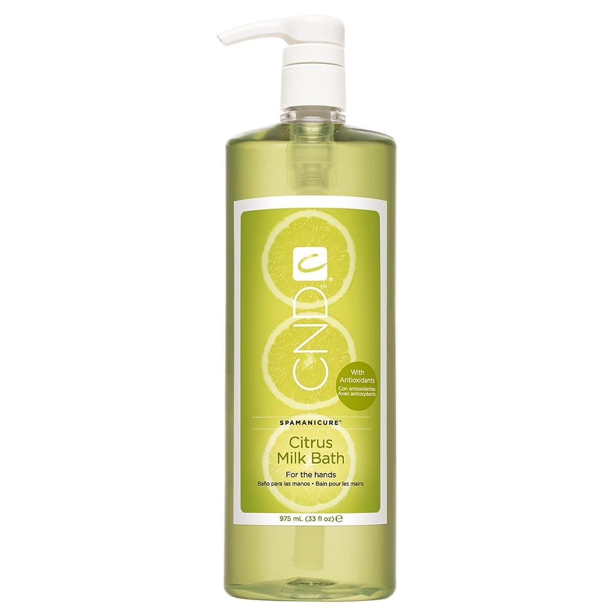 眠っている保全フローCND SpaManicure - Citrus Milk Bath - 33oz
