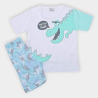 Pijama Infantil Kiko &kika Dinossauro Masculino