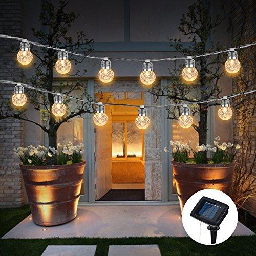 HNLZGL LED-Kugel Lichterketten Plug In, Außenwasserdicht solarbetriebene Kristall BallDecorative Lichter für Garten, Terrasse, Garten, Haus, Chrismas Baum