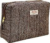 Vagabond Bags Ltd Harris Tweed Herringbone Big Bertha Bag Bolsa de Aseo, 25 cm, Negro (Black & White...