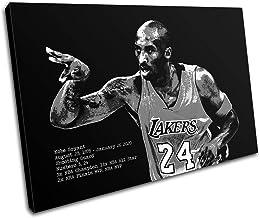 Bold Bloc Design - Kobe Bryant Grunge Pop Sports 90x60cm Single Canvas Art Print Box Framed Picture Wall Hanging - Hand Ma...