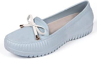 [クルーズライン] 晴雨兼用 リボン モカシン デッキシューズ フラットシューズ 雨靴 レインシューズ 防水 撥水 A99