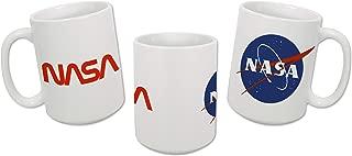 Sweet Gisele | NASA Mug | Original Ceramic Coffee Cup | Iconic Meatball Logo & Classic Red Insignia Design | Beautiful Vivid Colors | Great Novelty Gift | White Mugs | 15 Fl. Oz (White)