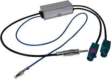 AERZETIX - Adaptador Separador de Antena - Autoradio - Doble FAKRA-DIN - para Coche Vehiculos C12000