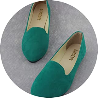 Mageed Anna Slip on Platform Shoes for Women Leather Suede Female Casual Shoes Creepers Moccasins Shoes Women Platform Loafers