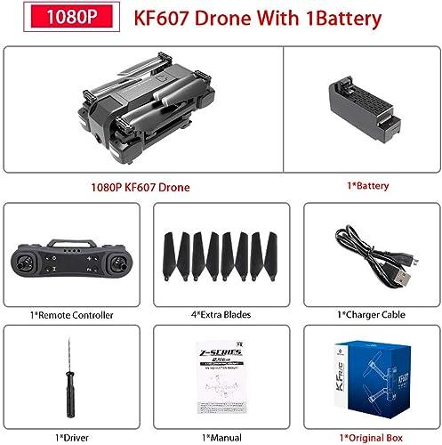 ETC KART Le Plus récent 607 quadrirougeor avec WiFi FPV 4 K 1080 P HD Double caméra Flux Optique Selfie Drone Pliable Mini Dron VS SG106 visuo xs816 (4K 1B Original Box)