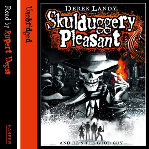 Skulduggery Pleasant audiobook cover art