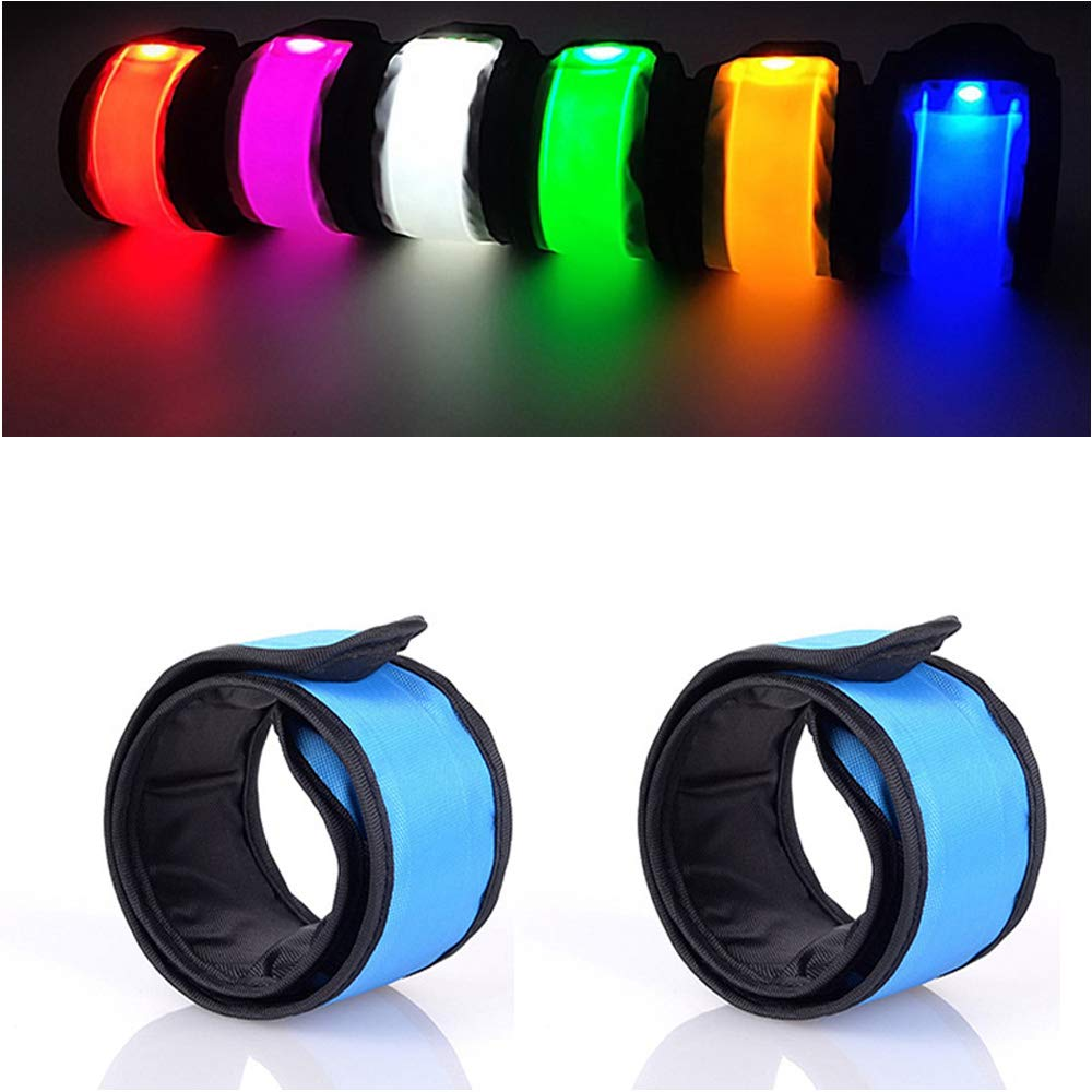 Anmixinuss LED Light Up Armband,Adjustable Glow Wrist Band,Night Safety Light Up Band for Cycling,Run Concerts Outdoor Sports Camping Use