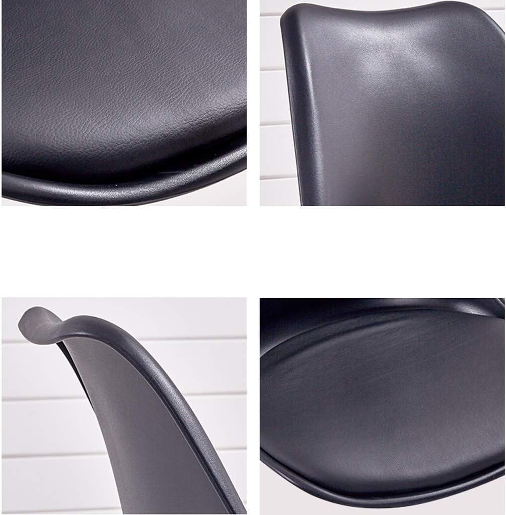 Chaise WGZ de Salle, de Bureau Simple, créative Dossier, Loisirs, Maison Adulte de Salle Simple (Color : White-B) Black