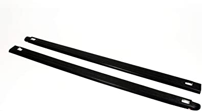 Wade 72-31101 Truck Bed Rail Caps Black Ribbed Finish with Stake Holes for 1999-2007 GMC Sierra 1500 2500 3500 (Classic only) with 8ft bed (Set of 2)