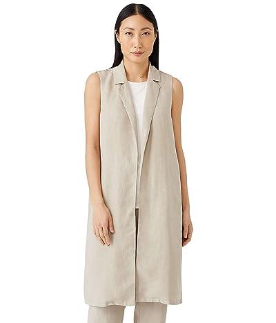 Eileen Fisher Petite Knee Length Vest in Tencel and Linen