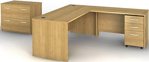 Bush BBF Series C 72W Desk Shell in Light Oak