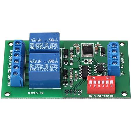 Nitrip Stromüberwachungsrelais Rtu Und At Befehl 2 C H Rs485 Relais Sps Steuerung Uart Serial Port Switch Relay Gewerbe Industrie Wissenschaft