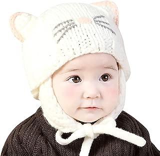 IMLECK Cute Baby Kids Girls Boys Warm Winter Stretchy Cat Hat Beanie