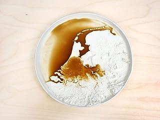 Piatto del terreno - Paesi Bassi - porcellana Olanda Paesi Bassi piatti in ceramica mappe art
