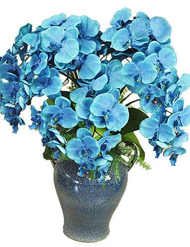 Aufrechtzuerhalten,Künstliche Blumen, Seide / Kunststoff Orchideen Künstliche Blumen , purple