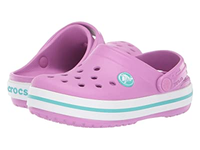 Crocs Kids Crocband Clog (Toddler/Little Kid/Big Kid) (Violet/Pool) Girl