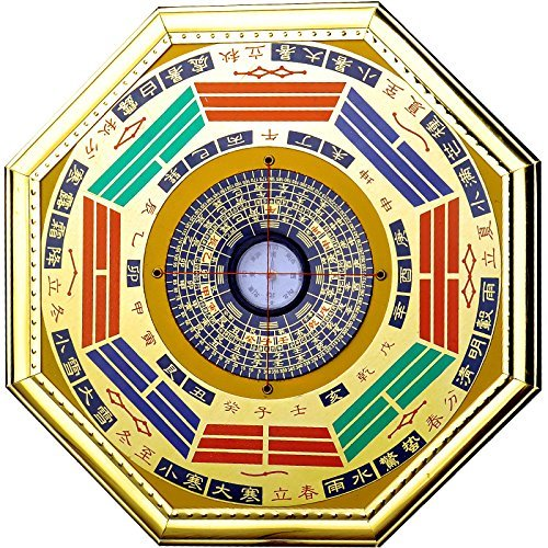 Chinese Feng Shui Compass Bagua Mirror (Middle)