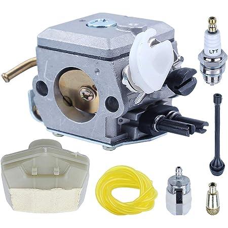 Air Fuel Filter Line For Husqvarna 61 66 266 w Spark Plug Carburetor Repair Kit