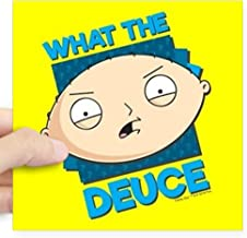 CafePress Family Guy What The Deuce Square Sticker 3 X 3 Square Bumper Sticker Car Decal, 3