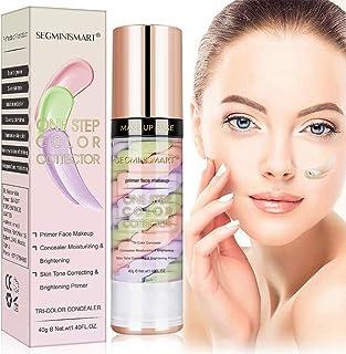 Makeup Primer, Pore Concealer Primer, One Step Color Corrector, Isolation Cream, Skin Tone Correcting Primer, Invisible Pore, Cover Acne Marks, Oil Control Moisturizing, 40 ml