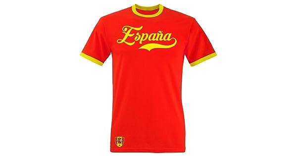 Aprom Spanje Ringer Retro TS WM EM Socccer T shirt shirt