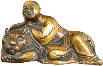 Buddha Statue Decoration Bronze Buddha Statue of Fuhu Arhat Home Decoration Meditating Seated Buddha Statue Carving Figuri...