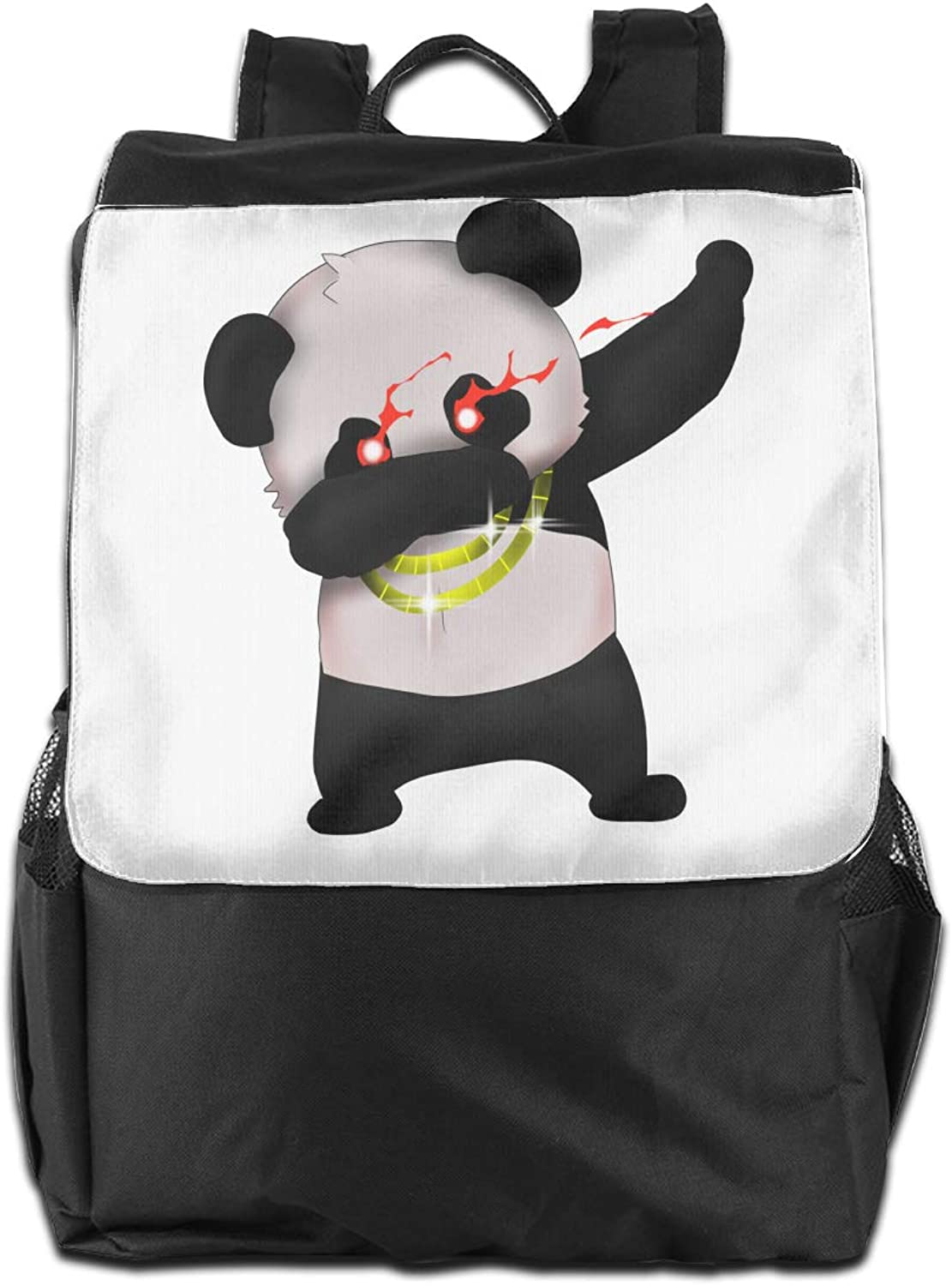 Skr Panda golden Chain Printed Boys Backpack Lightweight Casual Shoulder Bag School Bookbags