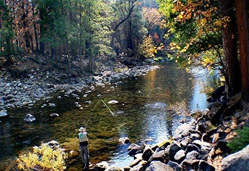 Amnogu Puzzles Rompecabezas De 1000 Piezas De Pesca En El Parque Nacional De Yosemite, Arte De Bricolaje para Adultos