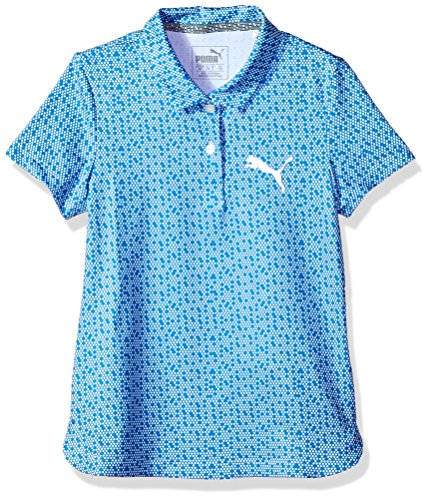 PUMA Golf Teen-Girls 2018Girl 's Polka Dot Polo, Nebula Blue, S