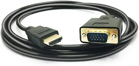 Ba30DEllylelly HDMI Macho a VGA RGB Hembra HDMI a VGA Adaptador convertidor de v/ídeo 1080P para PC Negro convertidor Adaptador Macho-Hembra