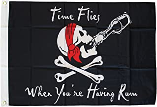 Time Flies When You're Having Rum - 3 ft x 5 ft Pirate Flag