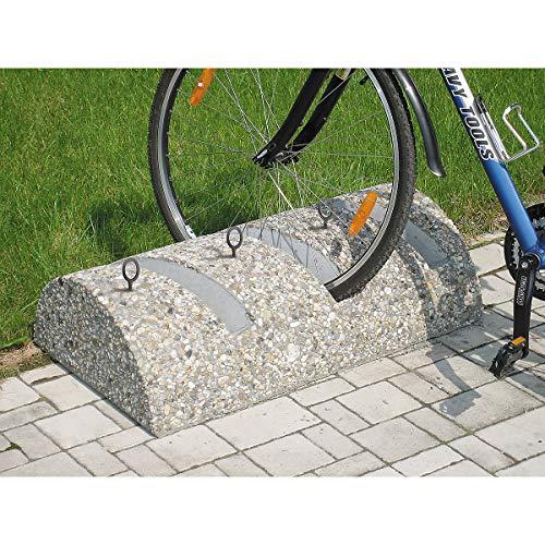 Certeo Beton-Fahrradständer | 3 Einstellplätze | Fahrradhalter Fahrradparkplatz Fahrradparker Radständer Ständer Fahrrad Fahrräder Halterung