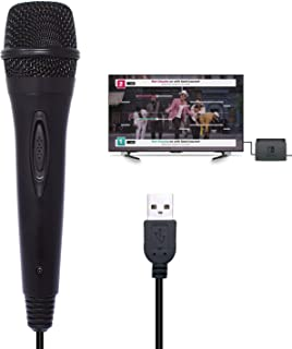 新しいUSB有線マイク3メートル/ 9.8フィートゲームパッド使用ニンテンドースイッチPS4 Wii U XBOX 360 PC用マイク高性能カラオケマイク