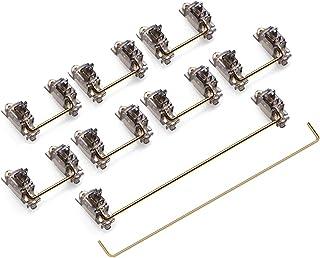ZugGear Translucent Smokey Gold Plated PCB Mount Screw-in Stabilizers 2u 6.25u 7u Keycap Stabilizers Mechanical Keyboard S...