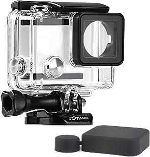 SOONSUN - Carcasa impermeable para GoPro Hero 4/3+ / 3 cámaras color negro y plateado