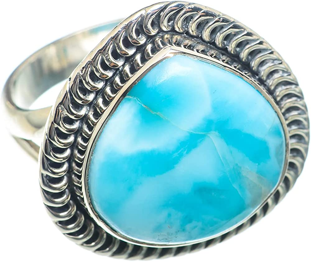 Ana Silver Co Larimar Ring Size - Oakland Mall Handma Sterling 2021 new 925 7