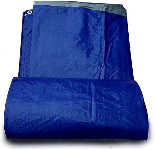 CFHJN Home Tente extérieure épaissie Toile de Prougeection Solaire Pare-Soleil bache de Prougeection Contre la Pluie Anti-vieillissement (Couleur   bleu, Taille   8×12m)