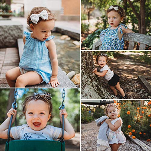 DRESHOW Baby Girl Headbands and Hair Bows Nylon Headbands 10 Pack of Hair Accessories for Newborn Infant Toddlers Kids