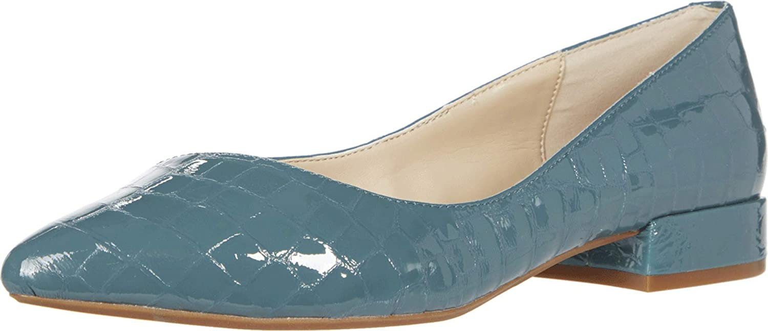 Kenneth Cole New York Women's Pointed Ballet product Flat Topics on TV Toe Camelia
