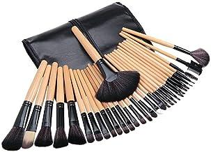 Ozoy Essential Cosmetics 24 Pieces Professional Makeup Brushes Set with Case, Face Eye Shadow Eyeliner Foundation Blush Lip Powder Liquid Cream Blending Brush