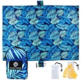 Best Beach Blankets - UrbanEco Outdoors Beach Blanket (Blue Leaves) Review